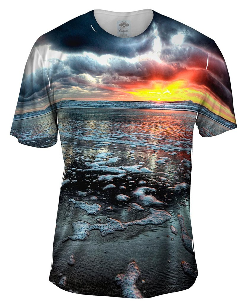 Beach Sunset Shore Mens Tshirt
