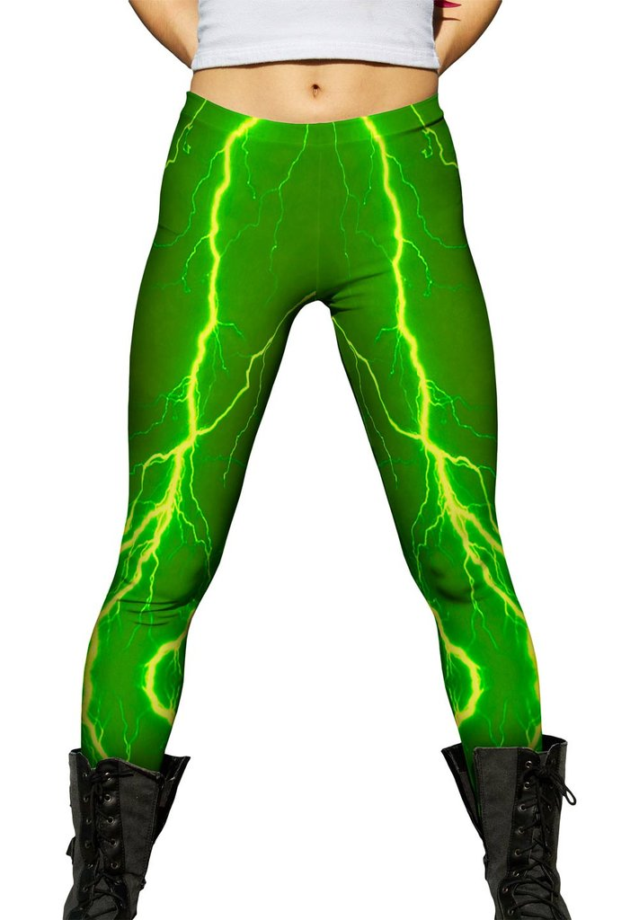 Storm Green Yellow Leggings