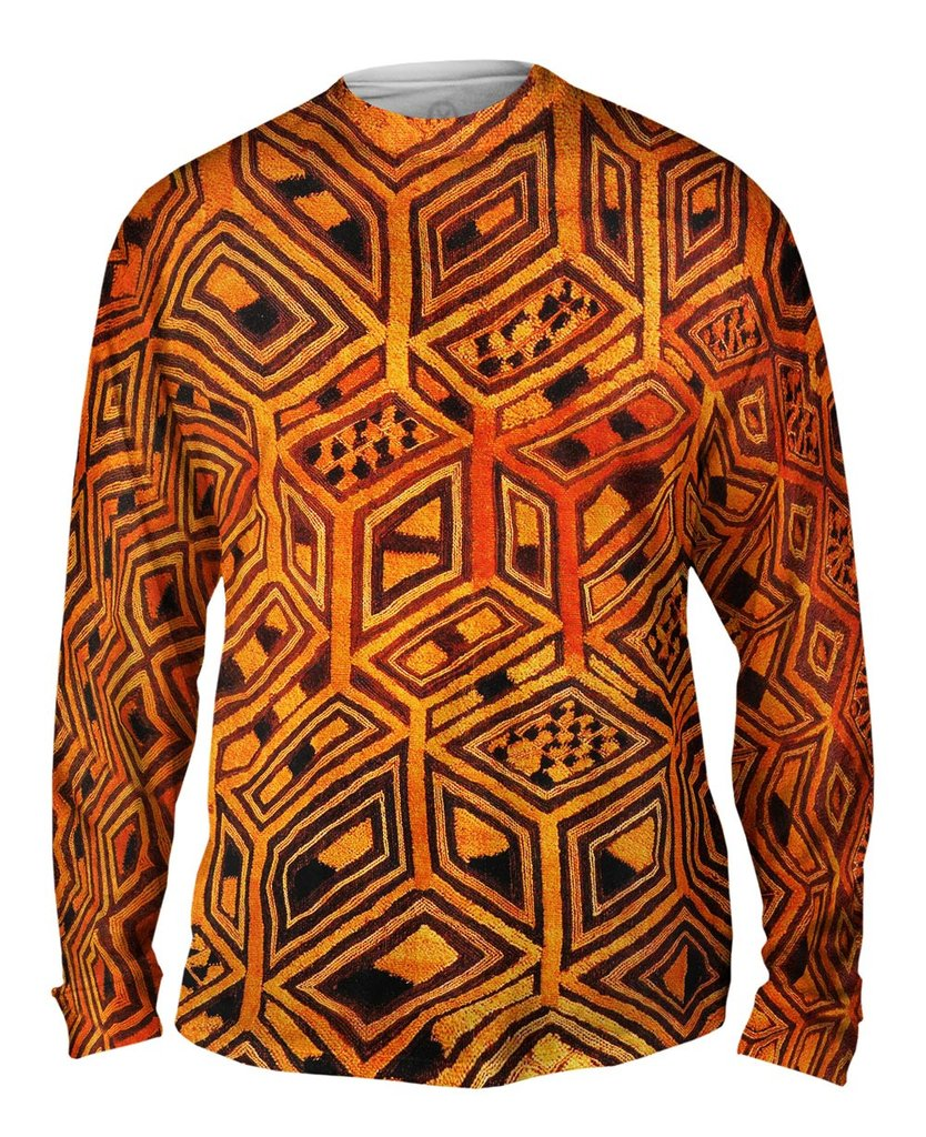 Tribal Kuba Cloth Mens Long Sleeve Tshirt