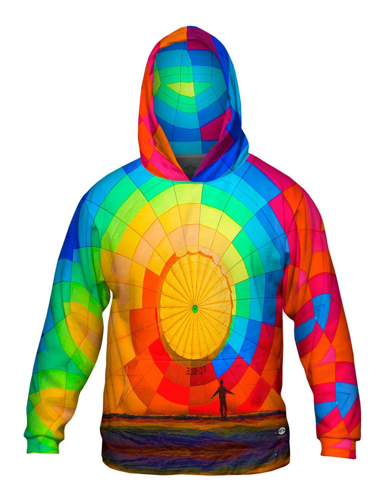Hot Air Balloon Inflating Mens Hoodie