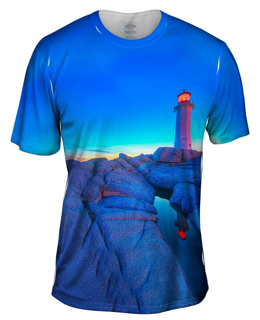 Blue Sky Lighthouse Mens Tshirt