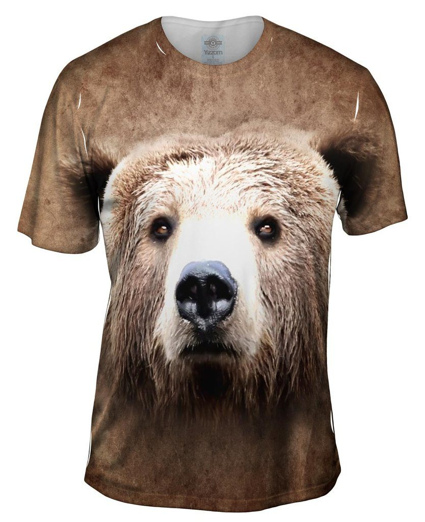 Brown Bear Face Mens Tshirt
