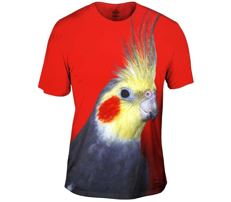 Curios Cockatiel Red Mens Tshirt