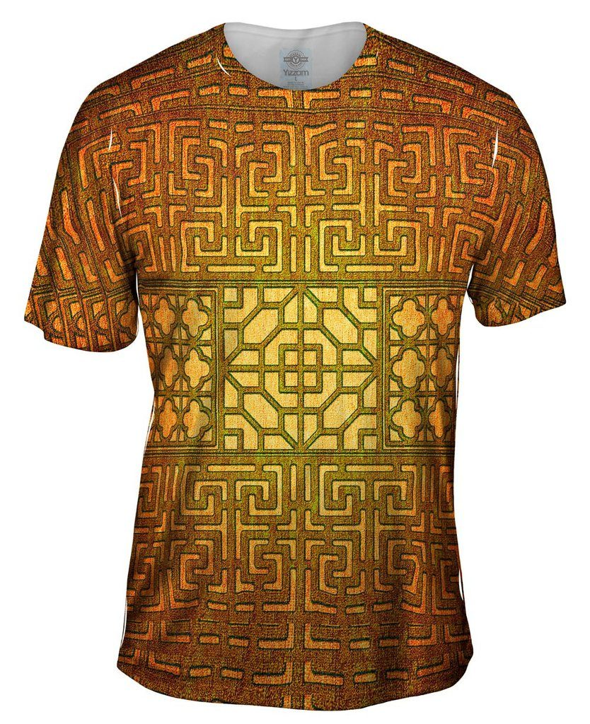 Eastern Tapestry Gold Mens Tshirt