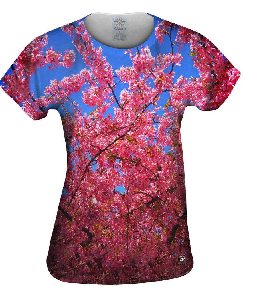 Japanese Cherry Blossom Blume Womens Tshirt