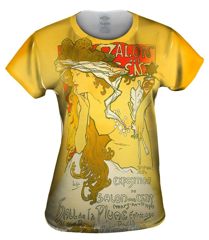 Mucha Salon Of The Hundrend Salon Des Cent Womens Tshirt