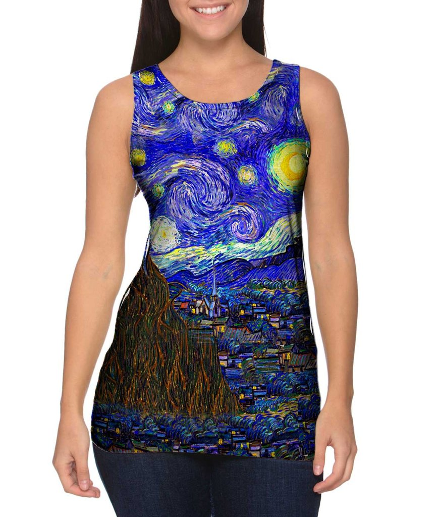 Van Gogh Starry Night womens tank