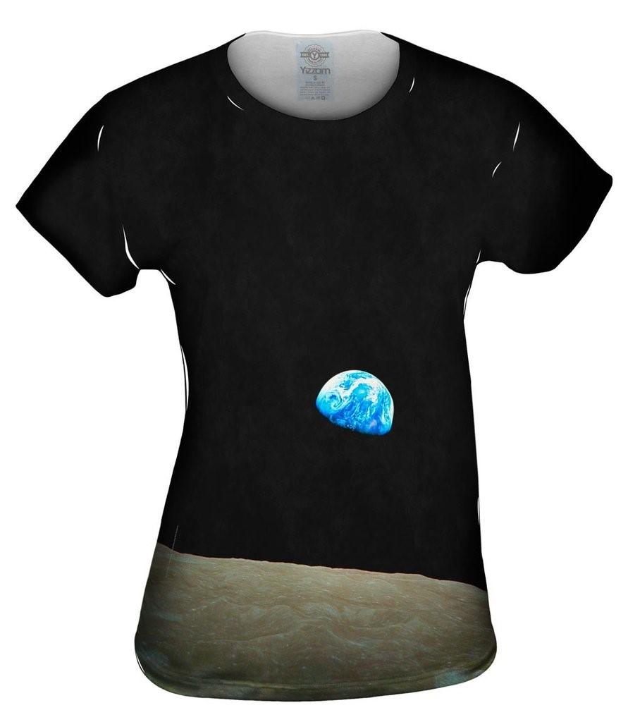 NASA Apollo 8 Earthrise From Space Womens Top