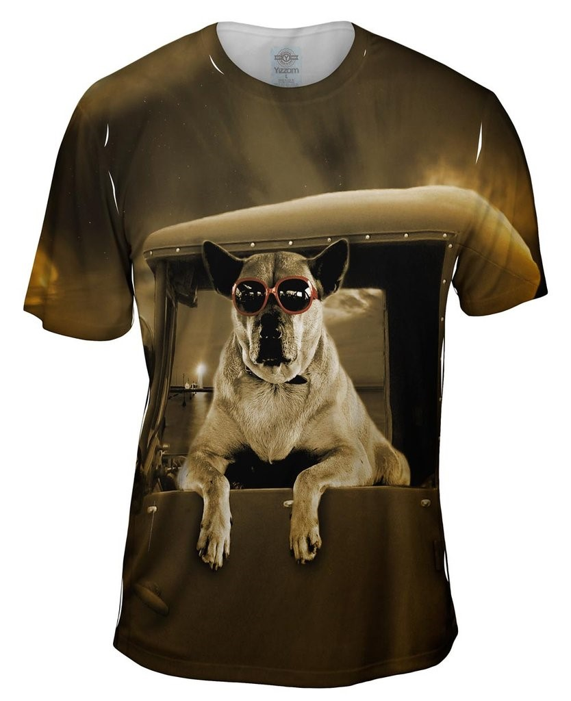 Pick-Up Truck Dog Mens T-Shirt