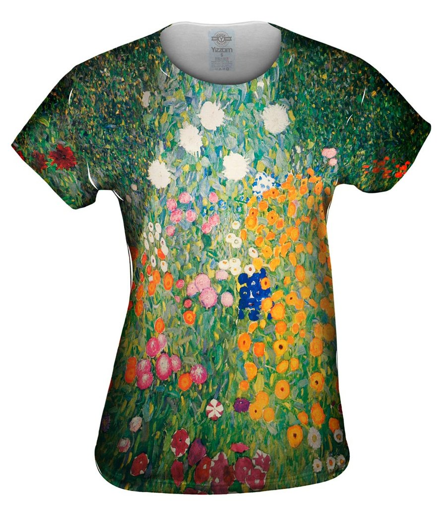 Gustave Kllimt Flower Garden Womens Top