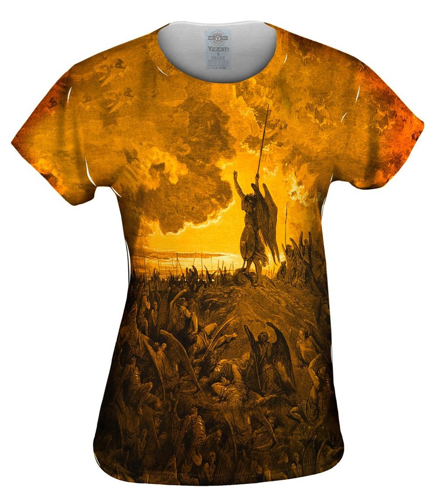 "Gustave Dore - ""Paradise Lost 3 Gold"" Womens Top"
