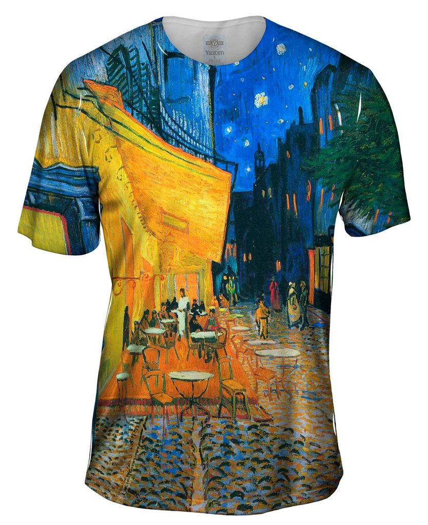Vincent van Gogh The Terrace Café On The Place Du Forum In Arles At Night Arles Mens T-Shirt