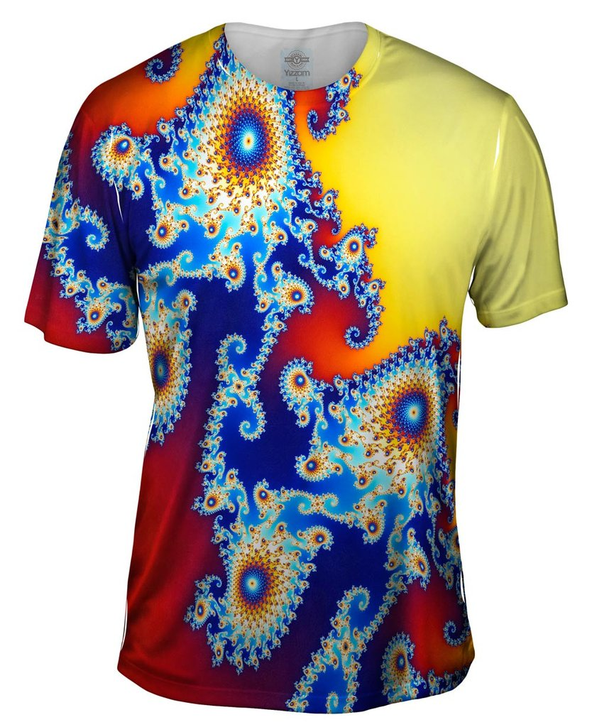 Mandel Fractal Center Blue Mens T-ShirtMandel Fractal Center Blue Mens T-Shirt