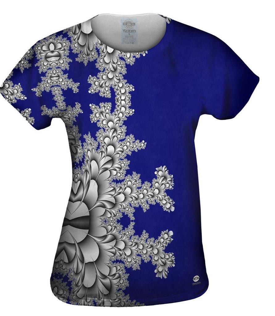 Titanium_Floral_Fractal_Womens Tshirt