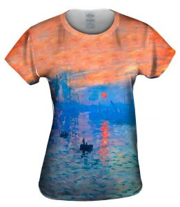 Claude Monet Impression Sunrise Womens Tshirt