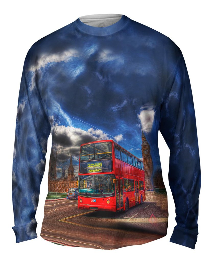 Big Ben Double Decker Bus Mens Long Sleeve