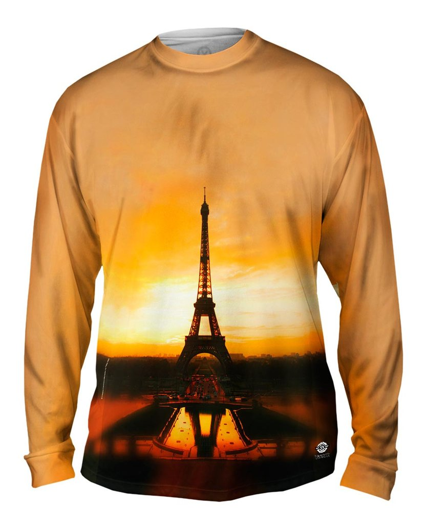 Eiffel Tower at Sunrise Mens Long Sleeve