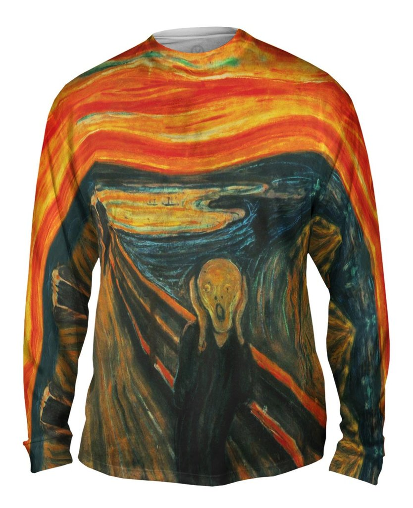 Edvard Munch The Scream Mens Long Sleeve