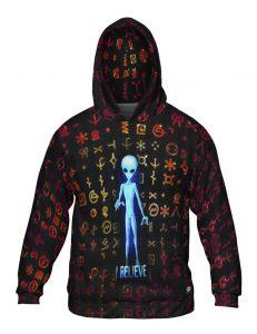 UFO I Believe Mens Hoodie