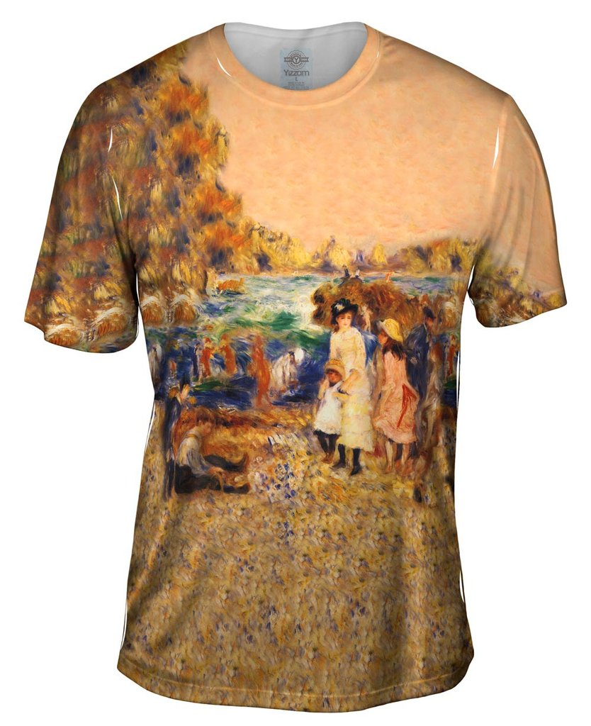 Pierre August Renoir Beach Scene Mens Tshirt