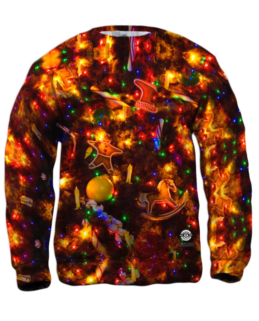 Christmas Lights in the Dark Mens Sweatshirt