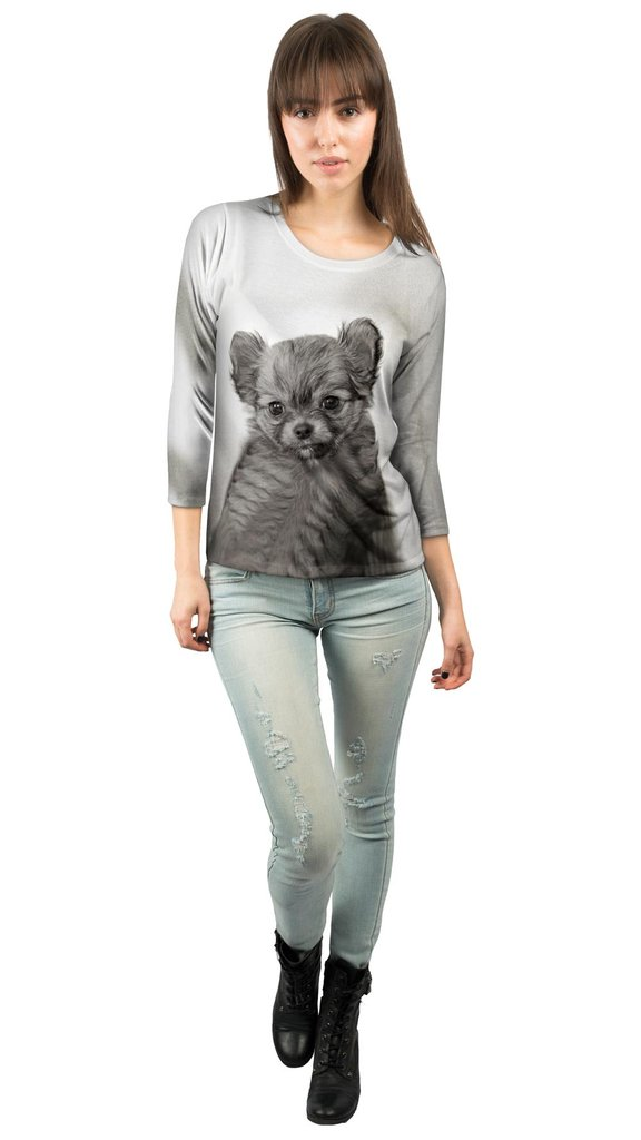 Darling Puppy Womens Three Quarter Sleeve