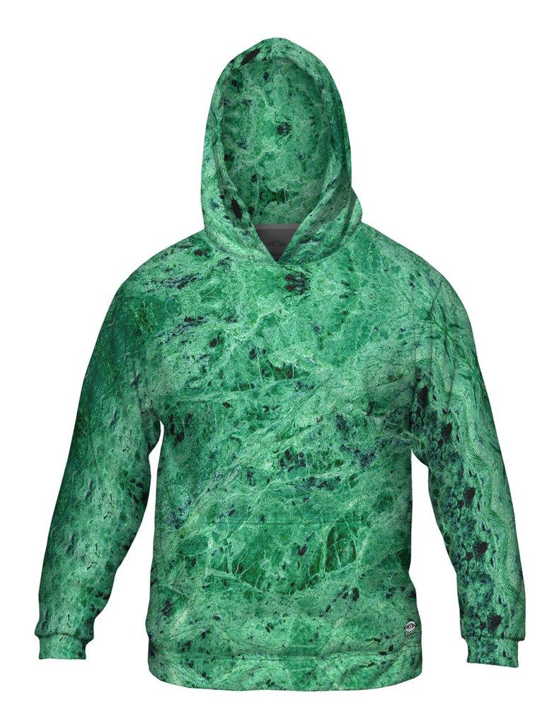 Green Marble Mens Hoodie
