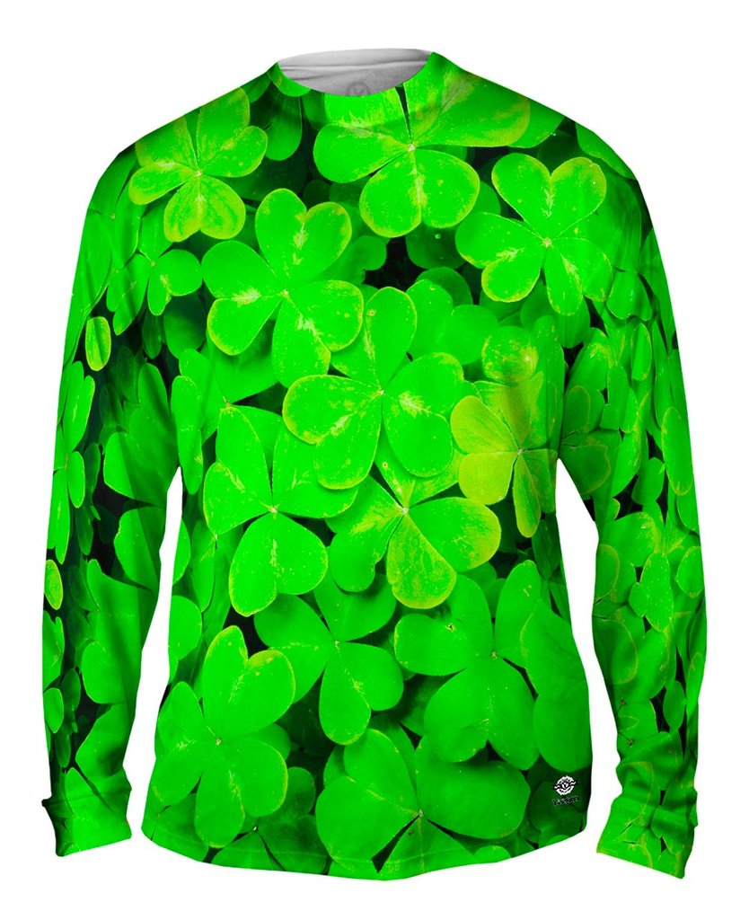 Mens Four Leaf Clover Long Sleeve