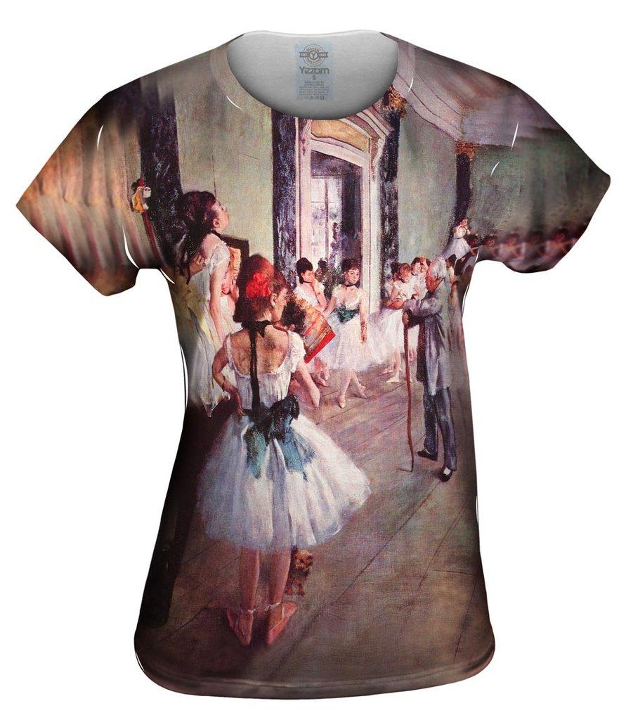 Edgar_Degas_Die_Tanzklasse Womens Tshirt