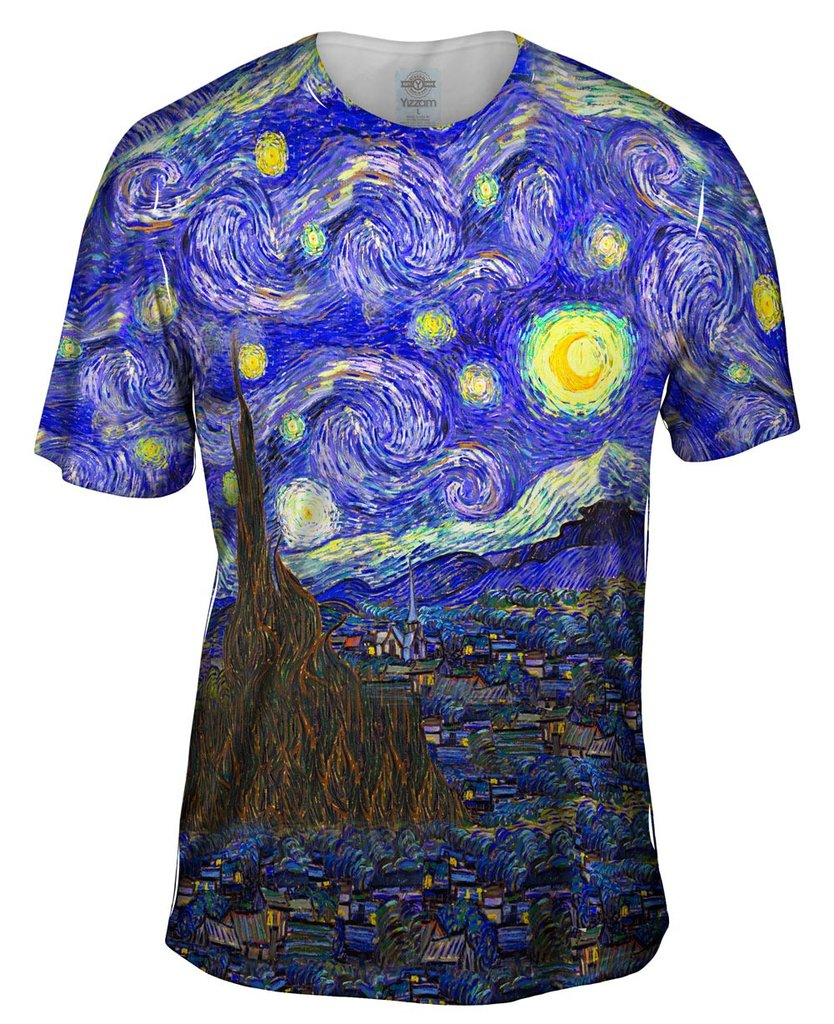 Van Gogh Starry Night Mens Tshirt