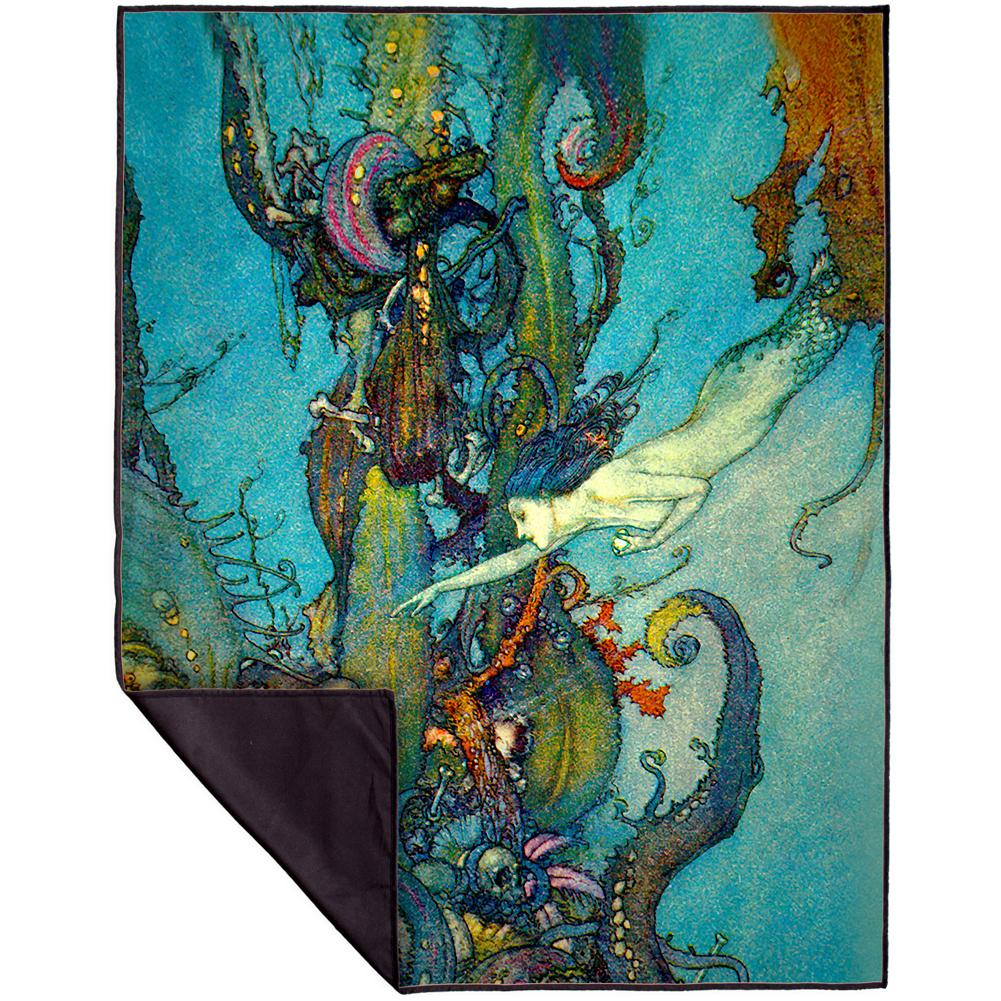 Edmund Du Lac The Little Mermaid Blanket