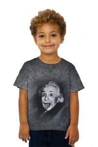 Albert Einstein Sticks His Tongue Out Kids Tshirt
