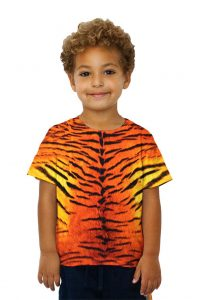 Tiger Skin Kids Short Sleeve Tshirt